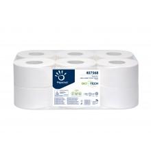 Papier wc Mini jumbo 2 plis Biotech 12 rlx