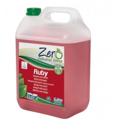 ZERO RUBY Détergent anticalcaire naturel 5 L